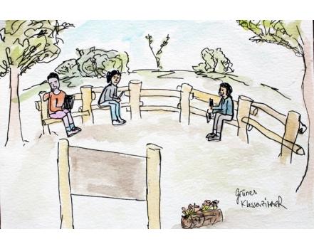 Vorabskizze - Grünes Klassenzimmer